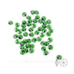 14 MM Yeşil Octagon Avize Taşı 40 Adet