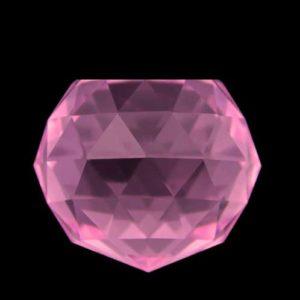 30 MM Kristal Pembe Kesik Top 10 Adet