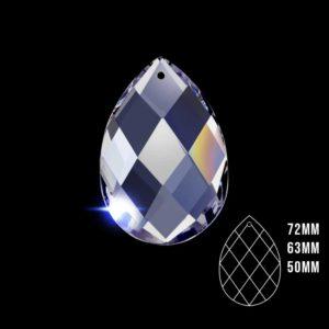 50x32 Şeffaf Kristal Badem Avize Taşı 10 Adet