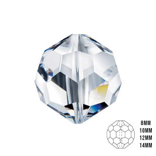 14 mm Şeffaf Kristal Boncuk Avize Taşı 100 Adet