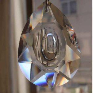 50x33 MM Gaynise Kristal Göz Avize Taşı 10 Adet