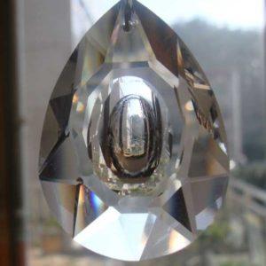 50x33 MM Şeffaf Kristal Göz Avize Taşı 10 Adet