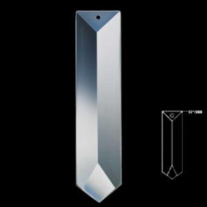 63x18 Seffaf Kristal Referans Avize Taşı 10 Adet